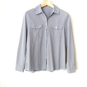 FRAME Shirt Striped Boyfriend Button Down Shirt